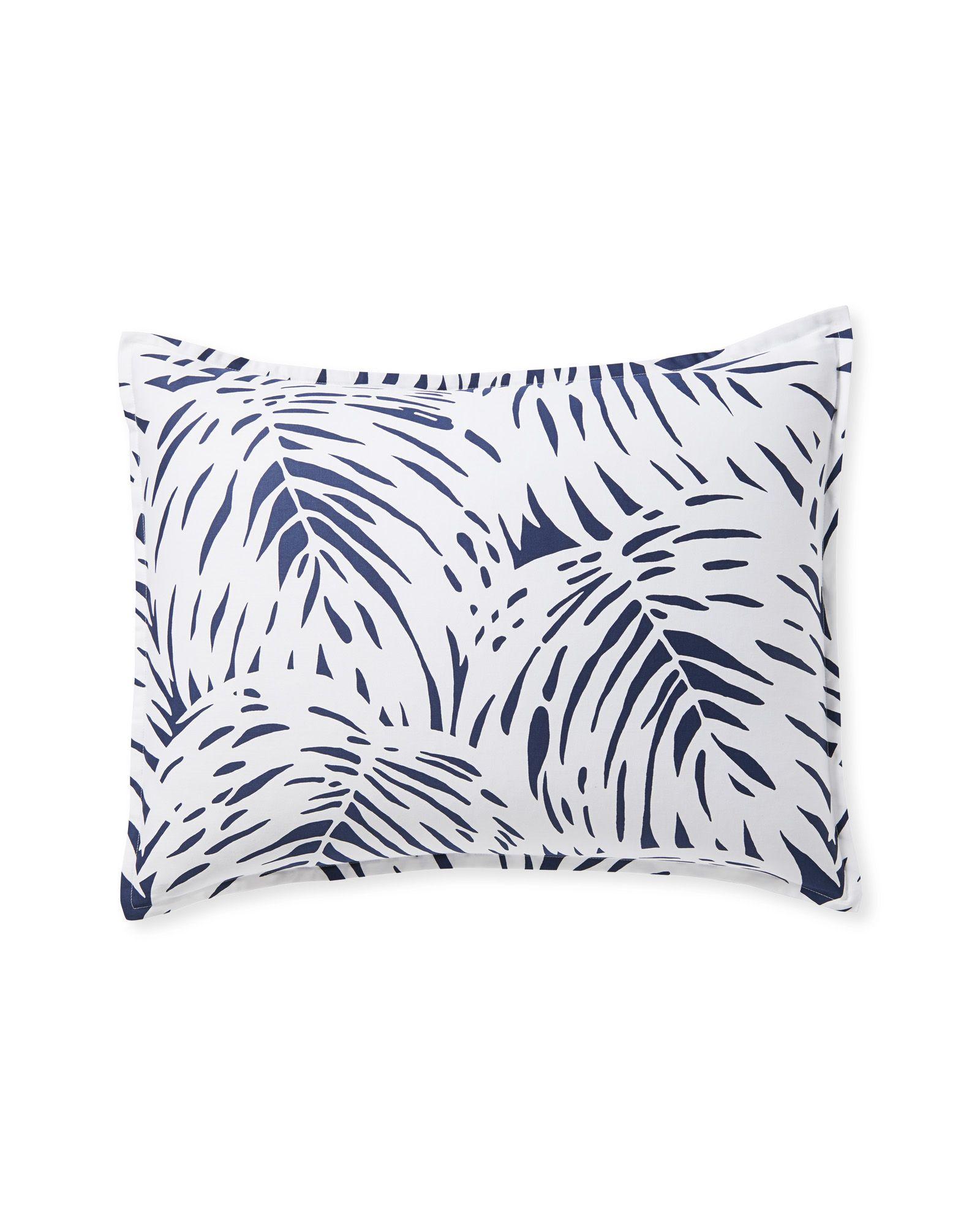 Serena & Lily Palm Shams Linen bedding, Palm, Master bedroom