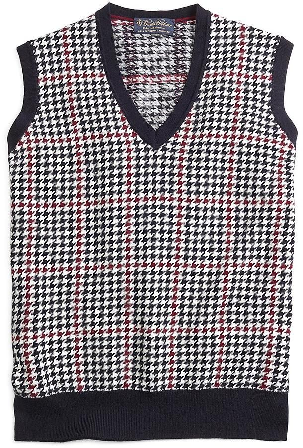 Cashmere Houndstooth Vest | Mens Vests | Pinterest | Houndstooth