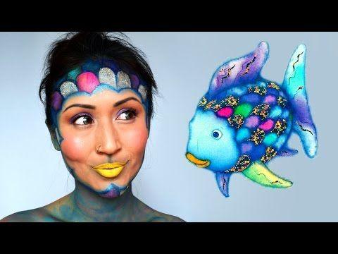 Rainbow Fish Makeup Tutorial Shelingbeauty Kostume In 2019