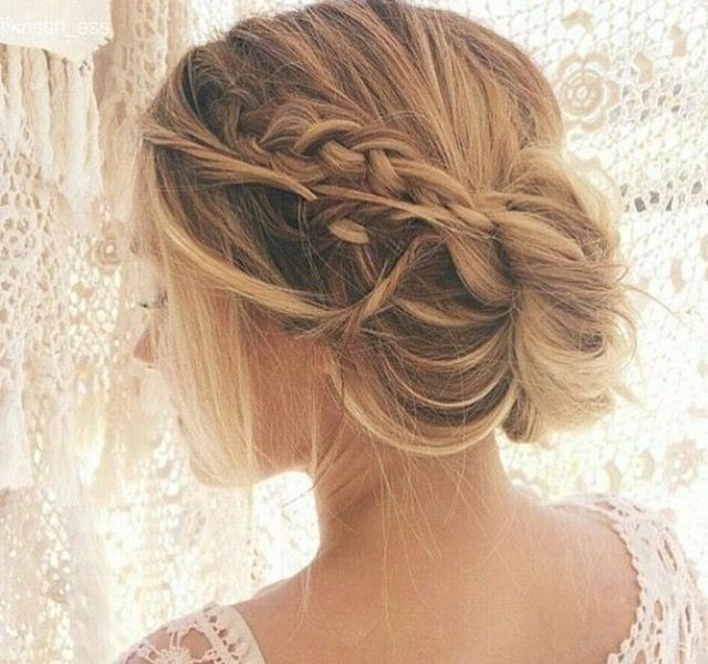Peinado De Novia Con Mono Y Trenza Desenfadada Peinados - Peinado-novia-trenza