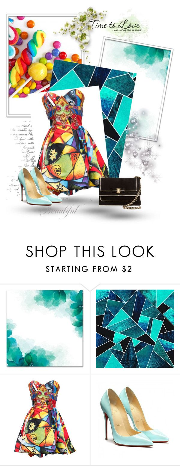 """""""Bez naslova #60"""" by velci-987 ❤ liked on Polyvore featuring Versace and Salvatore Ferragamo"""
