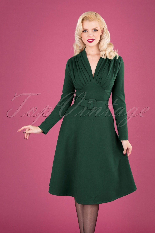 Unique Vintage 1950s Green Sweetheart Midge Swing Dress Green Dress Swing Dress Unique Dresses [ 1023 x 879 Pixel ]