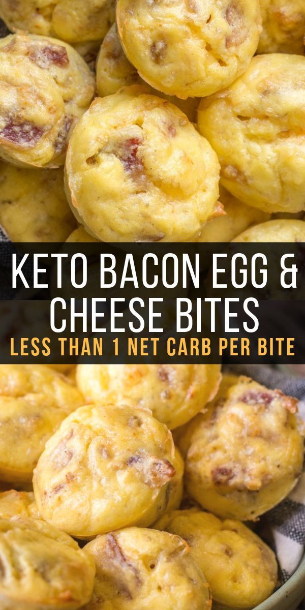 Keto Bacon Egg and Cheese Bites - Maebells