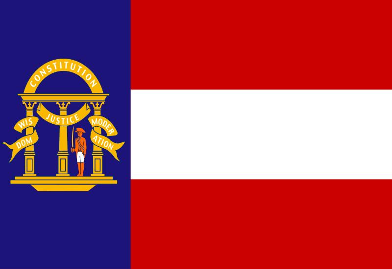 Flag Georgia 1902 1906 Georgia Flag Us States Flags State Flags