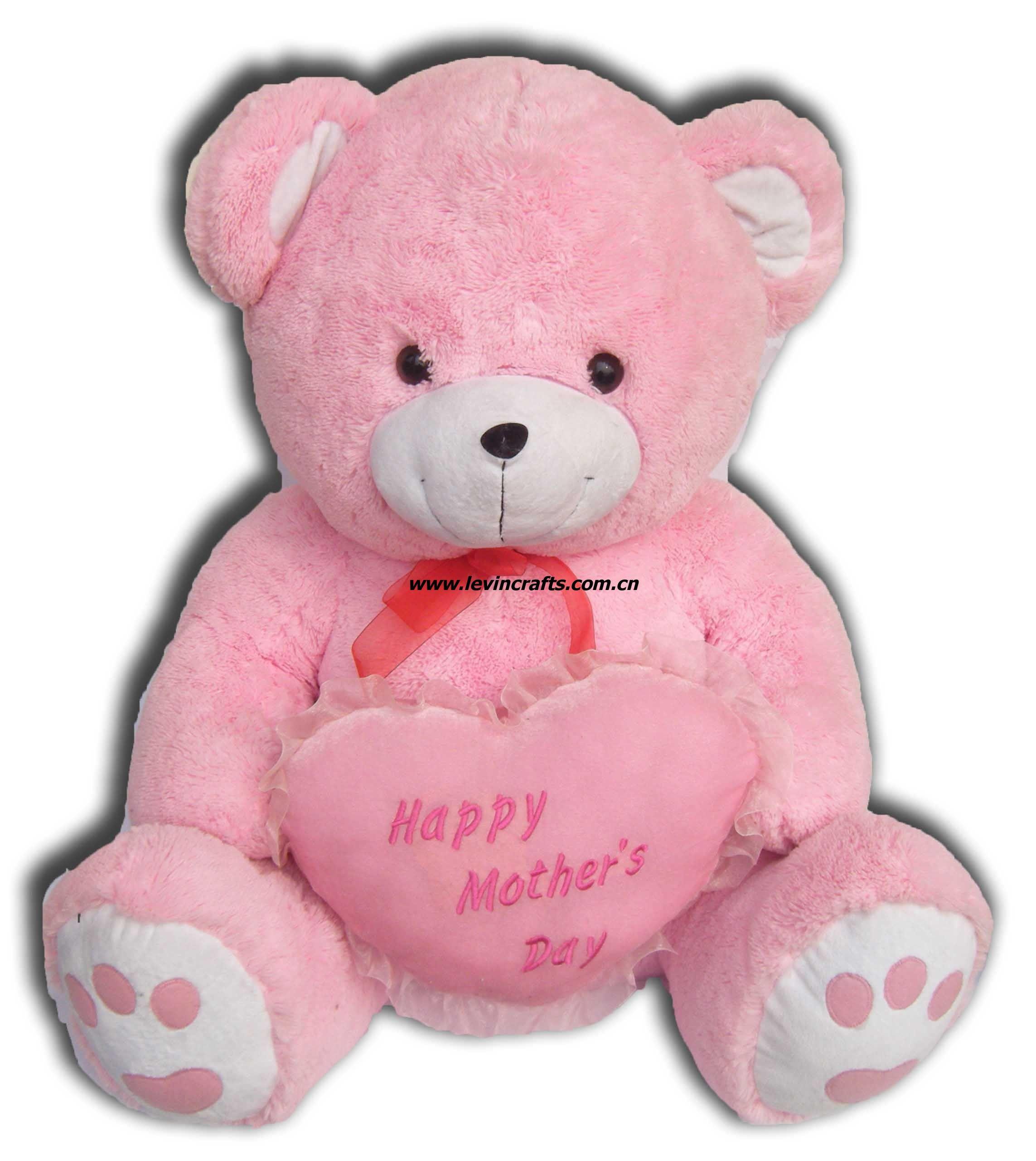 Cute pink teddy bear from