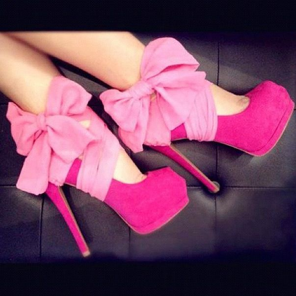 DIY take any pair of heels, some cute ribbon, and rap it around the high of the heel for more color or accessory! Don't forget to make a bow!✌