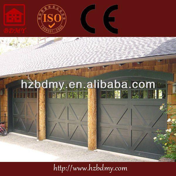 1lid Wood Garage Door With Low Price 2tomatic Lift Door With