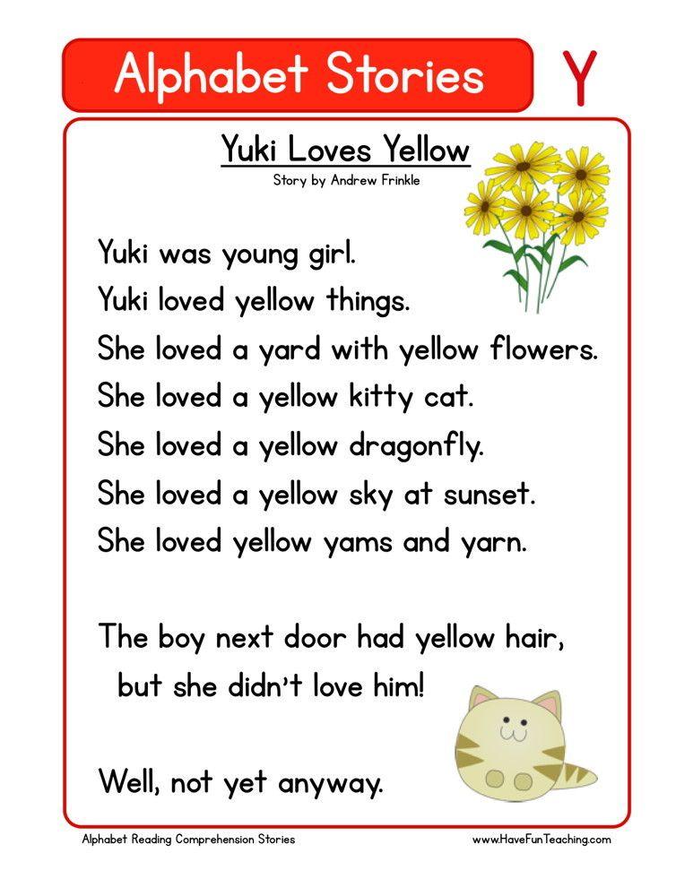 Yuki Loves Yellow Reading comprehension worksheets