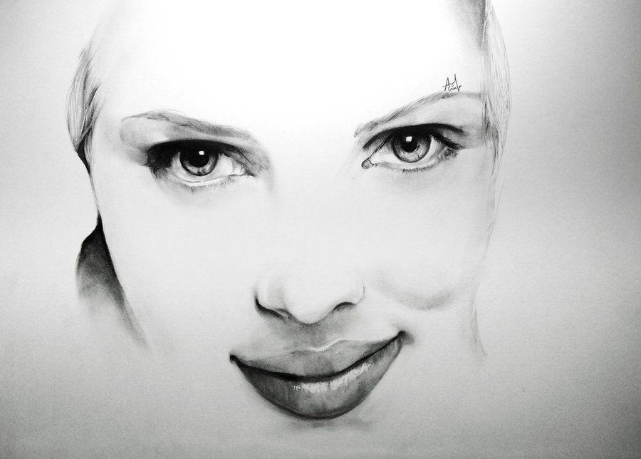 Scarlett Johansson - Minimal Portrait by Iza-nagi.deviantart.com on @deviantART