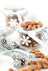 Sokeroidut pähkinät lahjaidea joulu joululahja muistaminen pähkinä