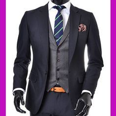 navy suit grey vest - Google Search | Wedding | Pinterest | Vests ...