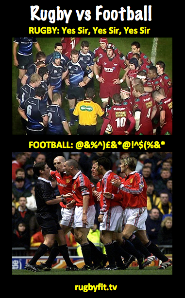Rugby Football Discipline One Of The Main Differences Between Rugby And Football Http Ozsportsreviews Com 2010 09 T Rugby Vs Football Rugby Sport Rugby