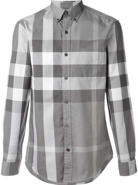 d6ce6aa9f Shop Burberry Brit checked shirt in Nida from the world's best independent  boutiques at farfetch.com. Shop 400 boutiques at one address.
