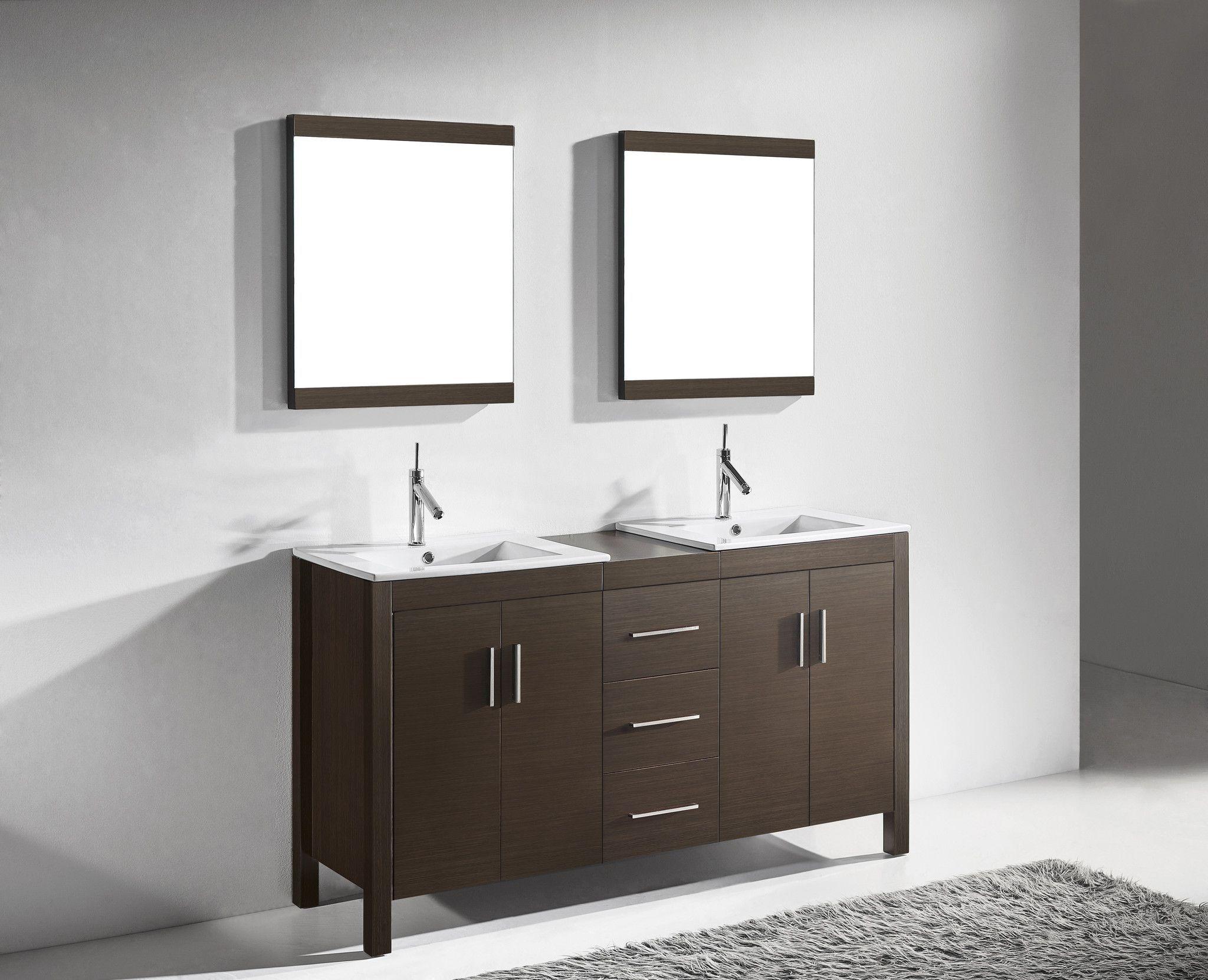 Adornus TRENTO-60-WAL-C Walnut Vanity | Products | Pinterest | Products