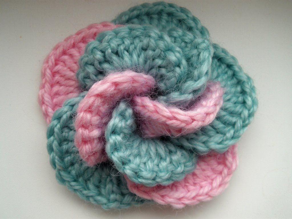Flor de crochet … | Proyectos que intentar | Pinterest | Häkeln ...