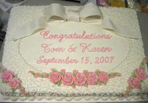 wedding sheet cake wedding stuff Pinterest Wedding ...