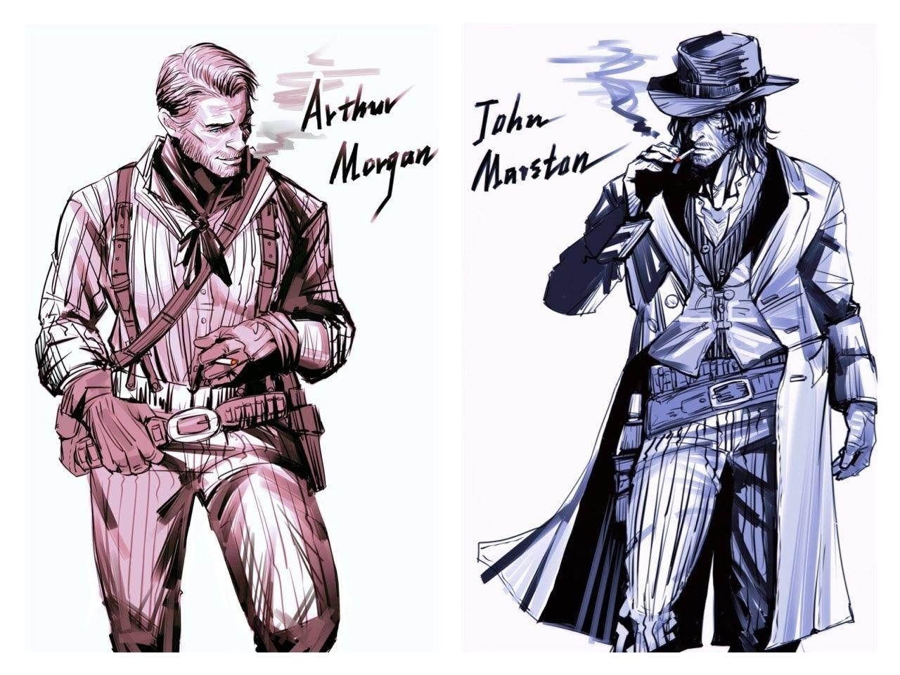 Arthur Morgan And John Marston Red Dead Redemption Artwork Red Dead Redemption Art Red Dead Redemption Ii
