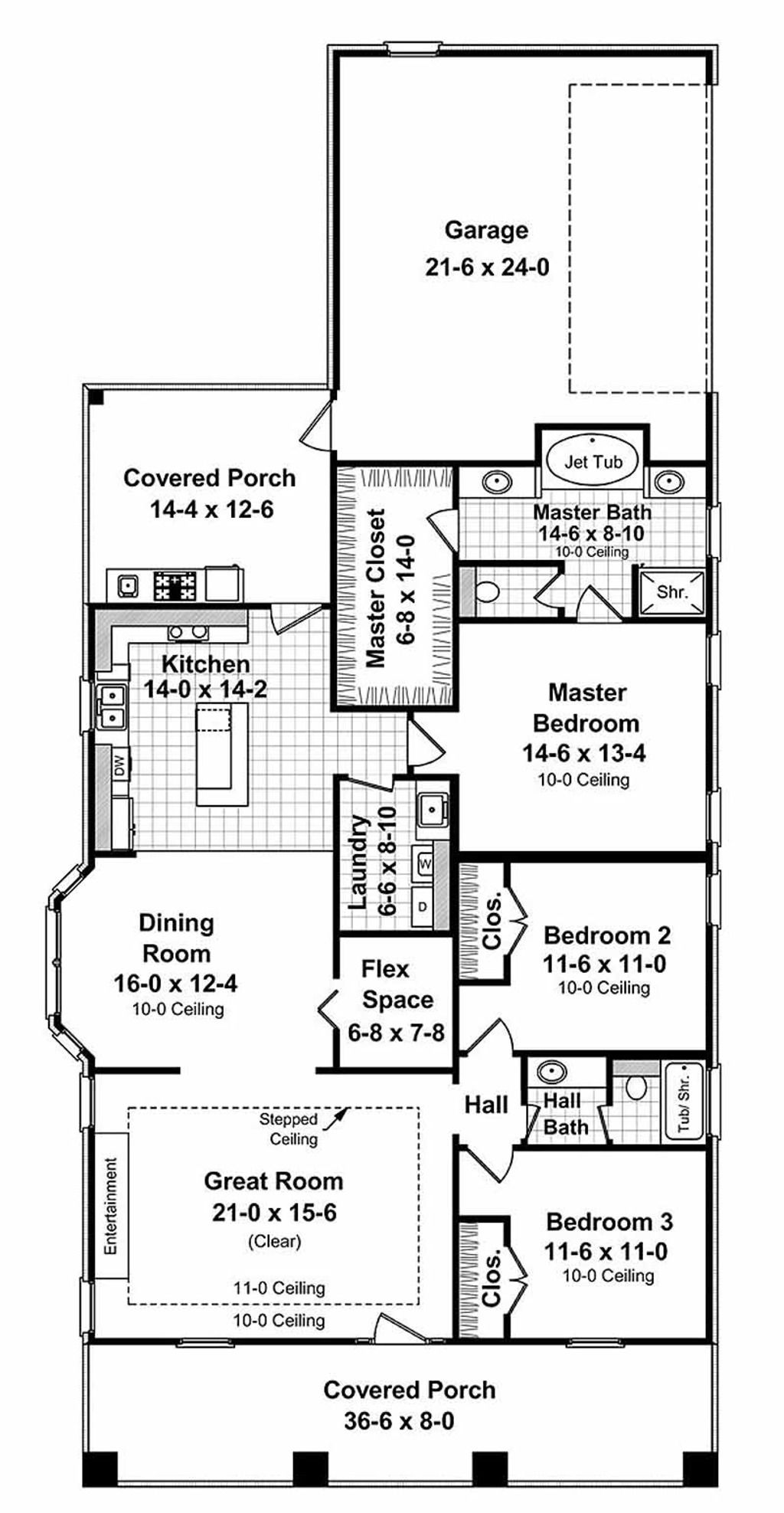 Craftsman Style House Plan 3 Beds 2 Baths 1800 Sq Ft Plan 21 249 Narrow Lot House Plans House Plan Gallery Craftsman Style House Plans