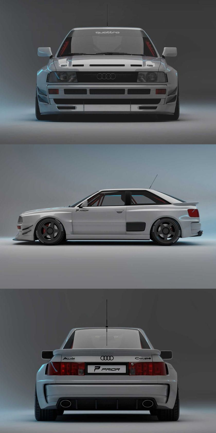 This Is The Audi Rs2 Coupe That Audi Never Made This Thing Looks Awesome Audi Audi Coupe Coupe
