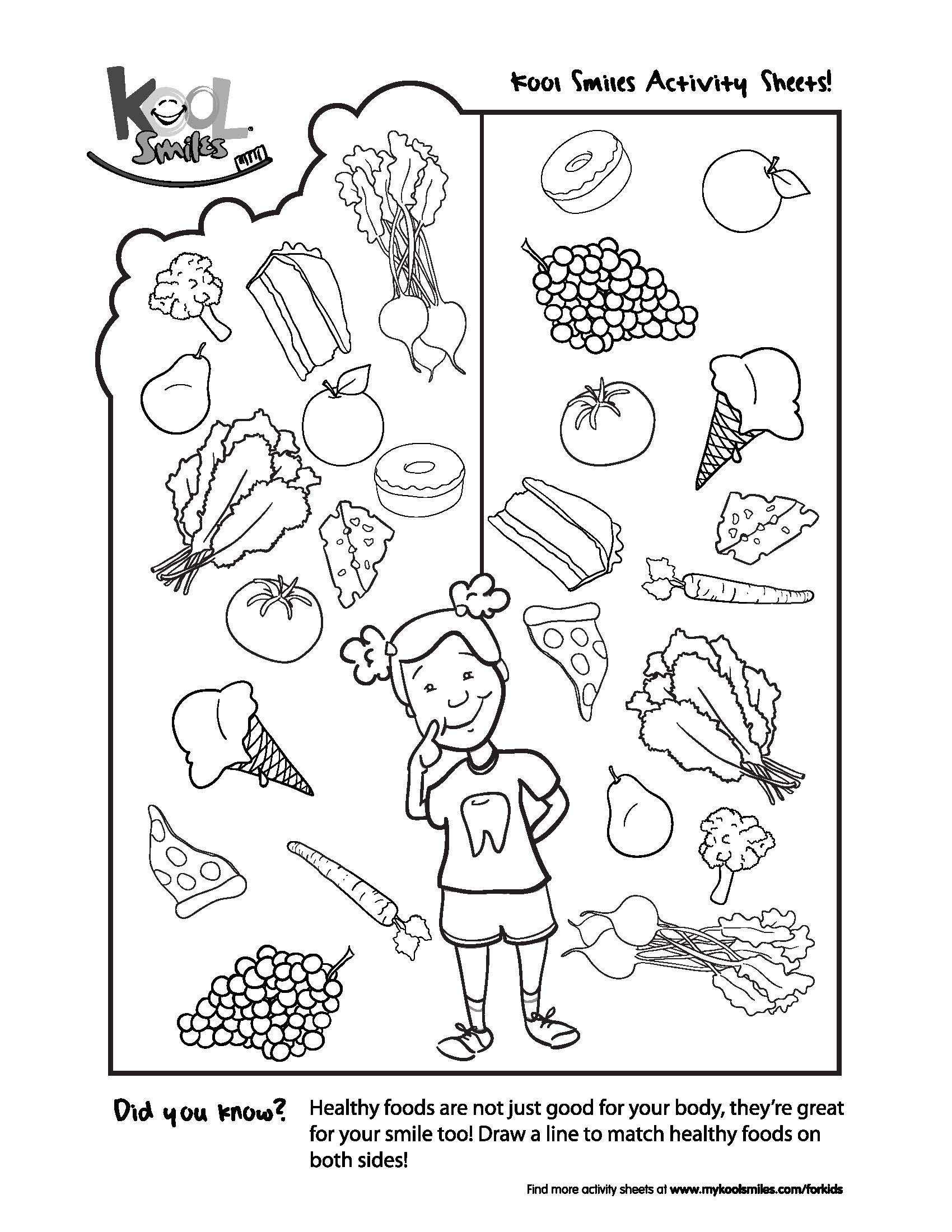 Can You Pick Out The Healthy Foods In This Activity Sheet
