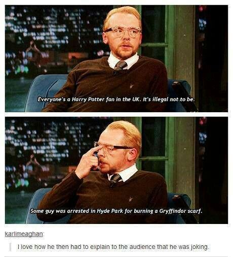 I Love Simon Pegg So Excited For His New Movie Simon Pegg Ron Weasley Hair I Love Simon