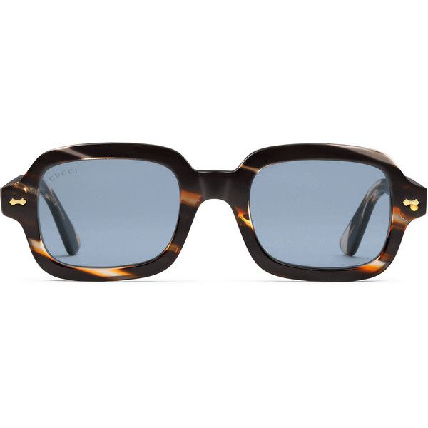 d691d111122 Gucci Rectangular-Frame Acetate Glasses (€310) ❤ liked on Polyvore  featuring men s fashion