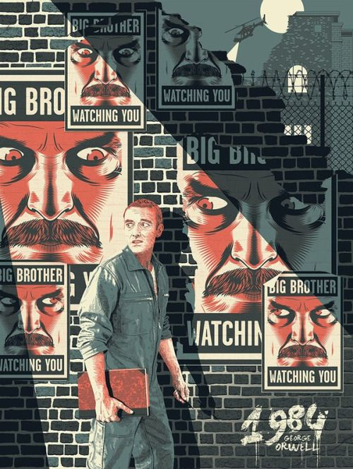 Geek Art Guillaume Morellec 1984 For Epic Prints Big Brother Is Watching