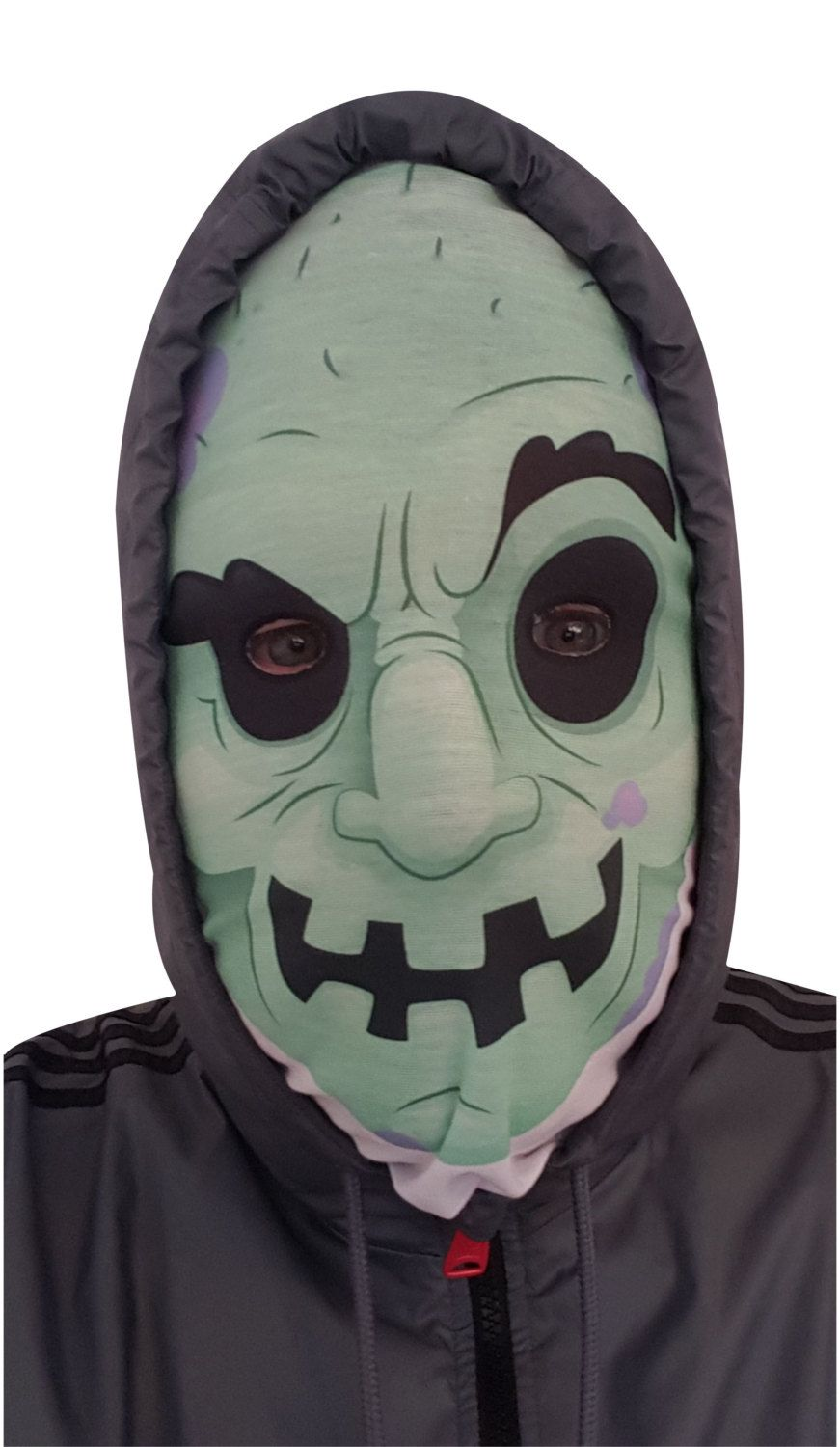 Pull up Creepy Monster Zombie scarf mask full or half face snood ...