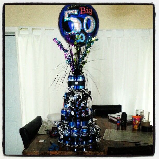 50th birthday beer can cake i made :) | Things Iv Made ...