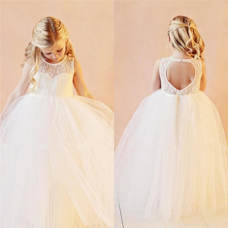 Lovely White Ivory Lace Flower Girls Dresses For Wedding 2016 Ball Gown Plus Size Puffy Organza Open Back Princess Pageant Gowns For Kids Flower Girls Gowns 2016 Flower Girls Dresses Girl Wedding Gowns For Kids Online with $128.0/Piece on In_marry's Store | DHgate.com