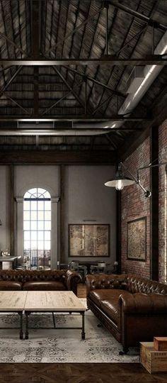 Farewell Industrial Livingroom Loft Design House Design