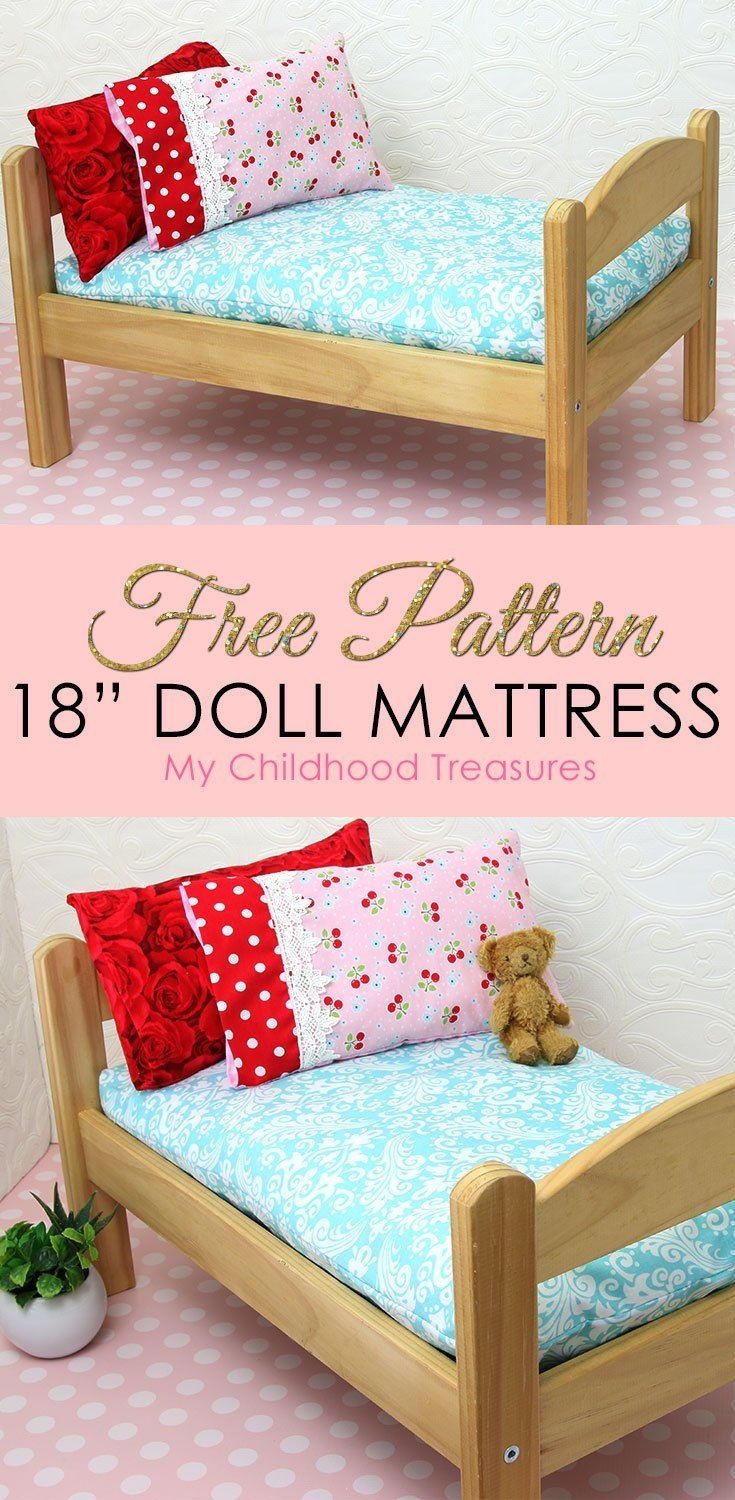 How to Make a Doll Mattress - DIY Doll Mattress Pattern #dollfurniture