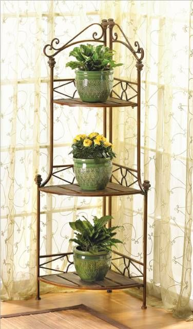 Corner Bakers Rack With Storage Magnificent Rustic Corner Bakers Rack  Bakers Rack Corner And Shelves Decorating Inspiration