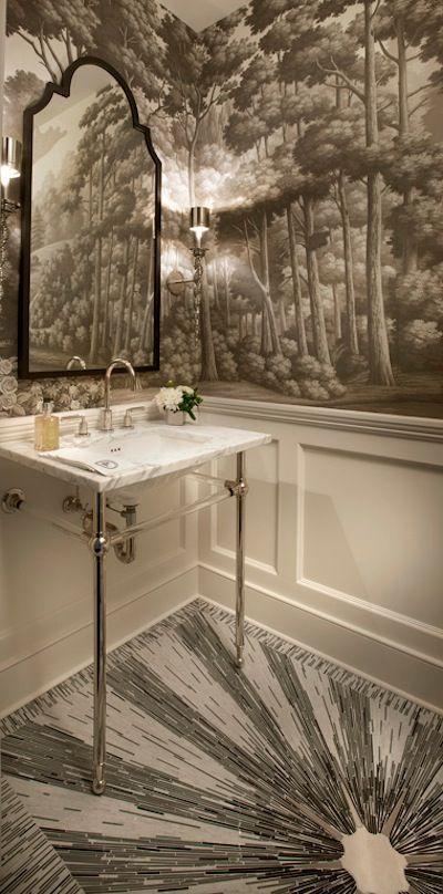 How To Create A Greyscale Bathroom: Chicago Grayscale Bathroom