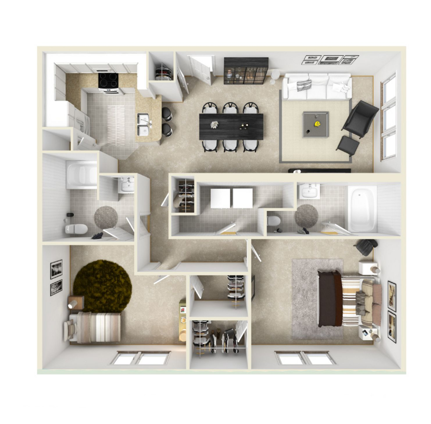 Image Result For 3 Bedroom Apartments Affordable Bedroom Bedroom House Plans Houston Apartment