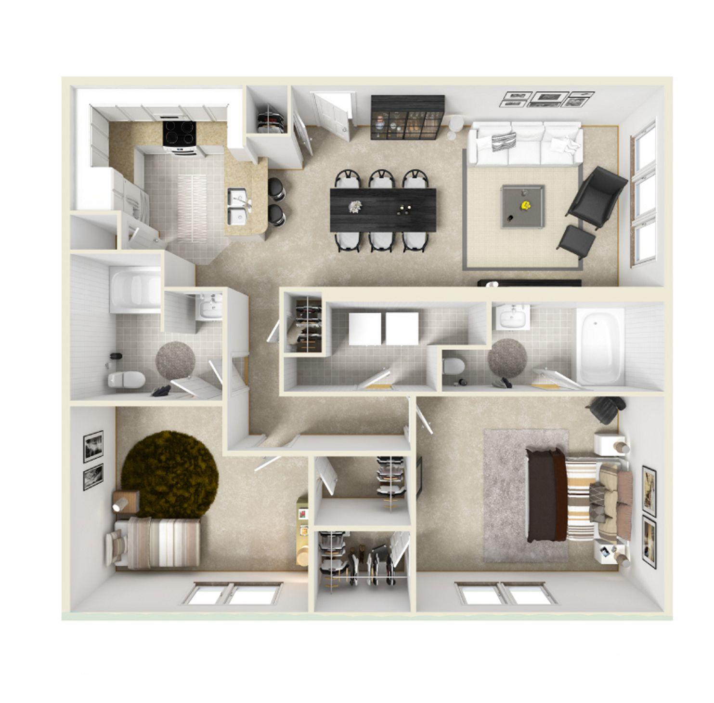 2 Bedroom 2 Bathroom Apartments In Atlanta Ga