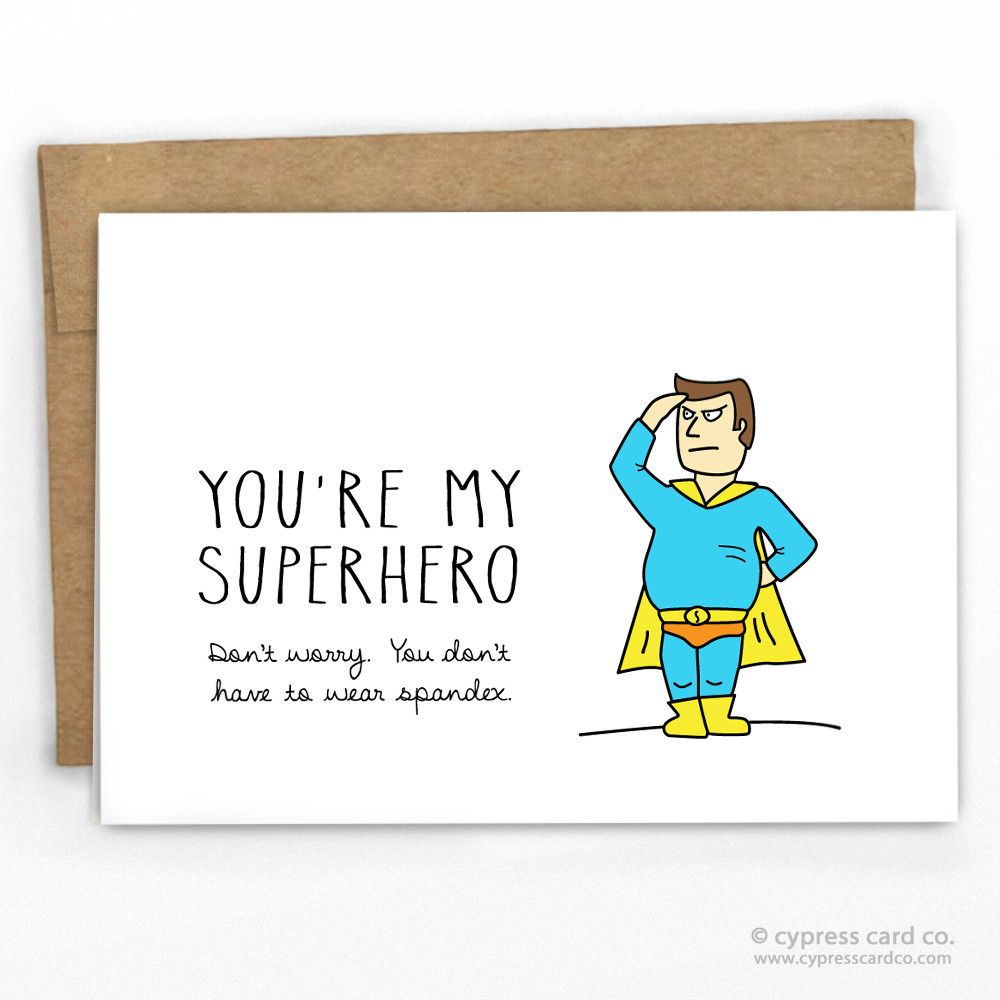 Geek valentine card geek love card programmer love card funny fathers day card youre my superhero by cypress card co kristyandbryce Image collections
