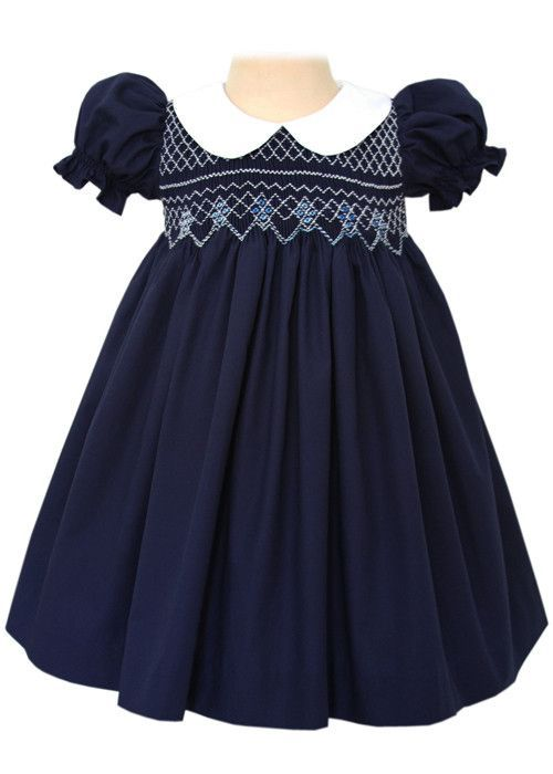 Classic Smocked Girls Dress For Special Occasions