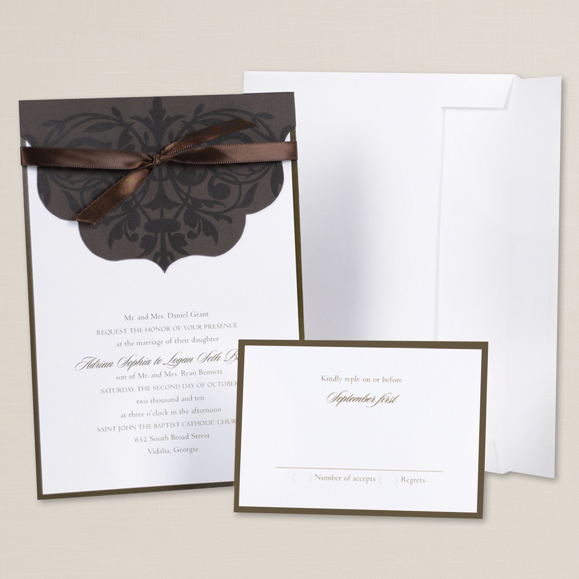 Scalloped Sophistication DIY Wedding Invitation Kit ...