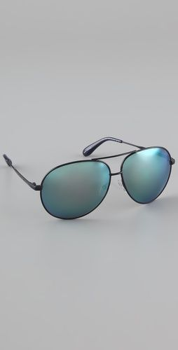 58881b4971fa Mirrored Aviator Sunglasses
