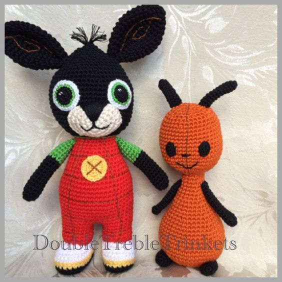 Crocheted Bing Bunny and Flop Free pattern More | Amigurumi | Pinterest