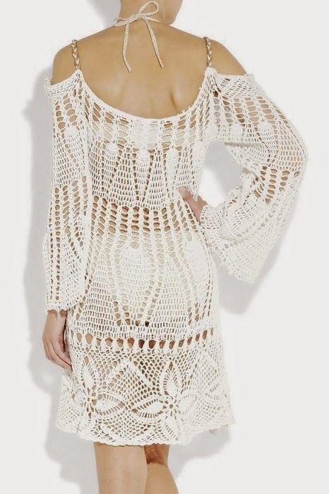 Vestido blanco ibicenco patron - Patrones Crochet | ropa crochet con ...