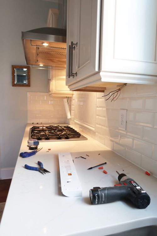 DIY LED under cabinet kitchen lights! How to install GE ...