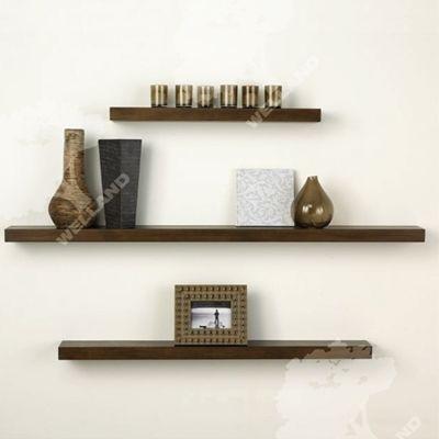 Modelo de estantes de madera repisas pinterest for Amoblar departamentos pequenos