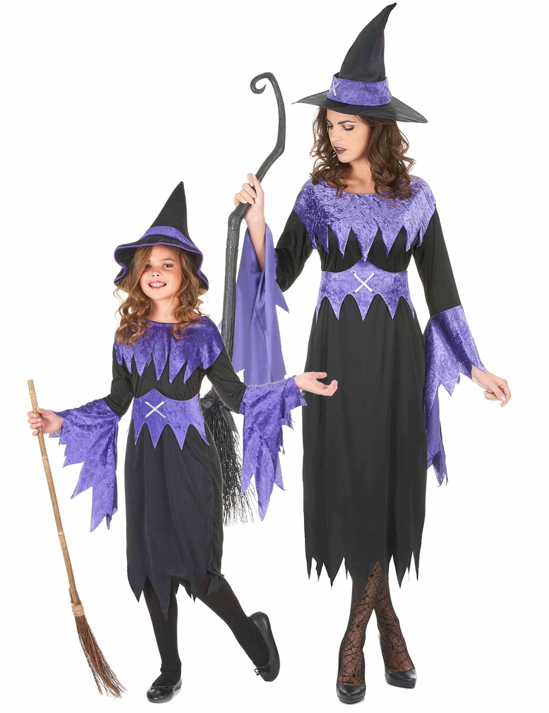 Costumi Halloween Di Gruppo.Costumi Madre E Figlia Costume Strega Donna Halloweenquesto Costume