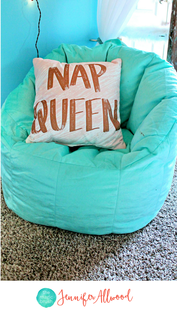 Nap queen pillow u big joe milano chair in a gorgeous coral and blue