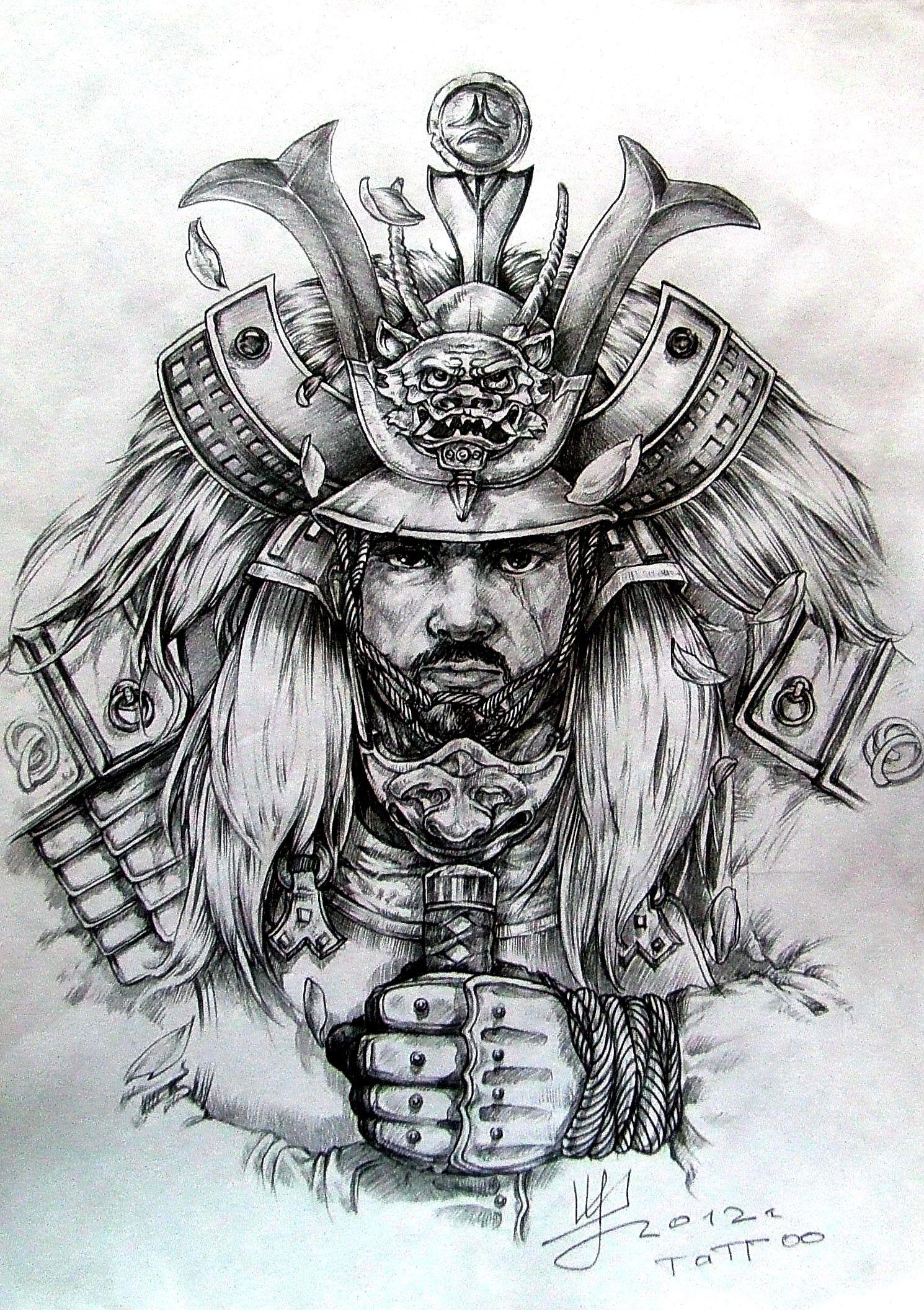 арт для тату самурай Art эскиз тату тату и самурай