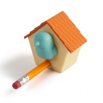 Birdhouse pencil sharpener - a welcome addition to any pencil case