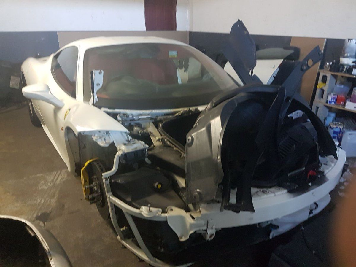 Stolen Ferrari 458 Found In Kzn But Already Stripped For Parts Ferrari Sports Cars Luxury Luxury Cars