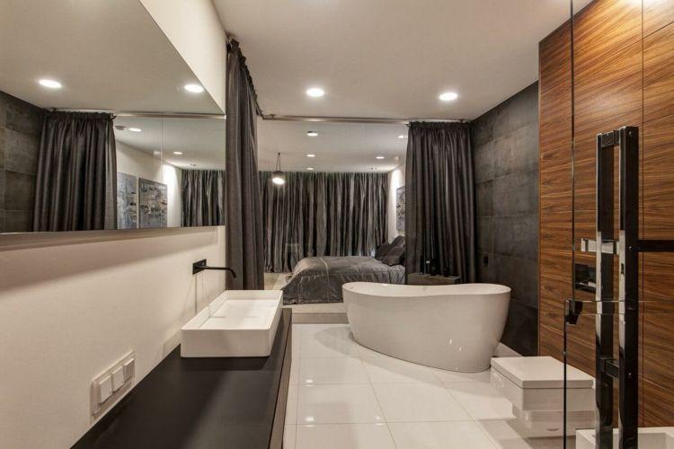 wohnung-einrichten-grau-bad-interieur-luxus-modern-inspiration - badezimmer modern grau